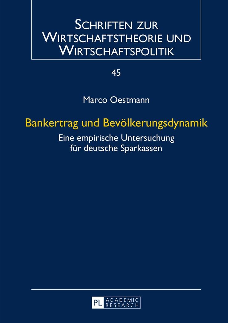 Bankertrag und Bevölkerungsdynamik | Oestmann, 2014 | Buch (Cover)