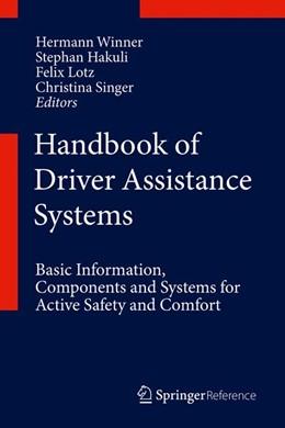 Abbildung von Winner / Hakuli / Lotz / Singer | Handbook of Driver Assistance Systems | 1st ed. 2016 | 2015 | Basic Information, Components ...