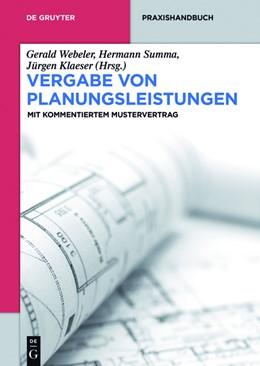 Abbildung von Webeler / Summa   Vergabe von Planungsleistungen   1. Auflage   2015   beck-shop.de