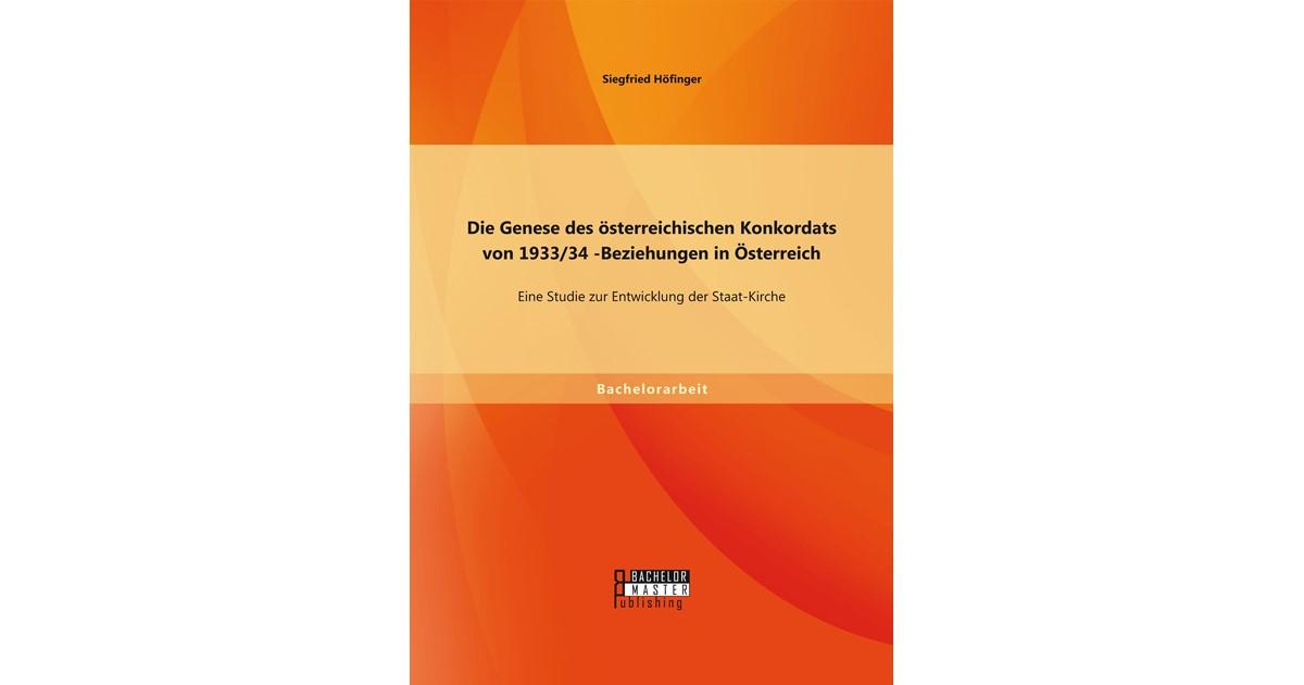 Höfinger Die Genese Des österreichischen Konkordats Von 193334