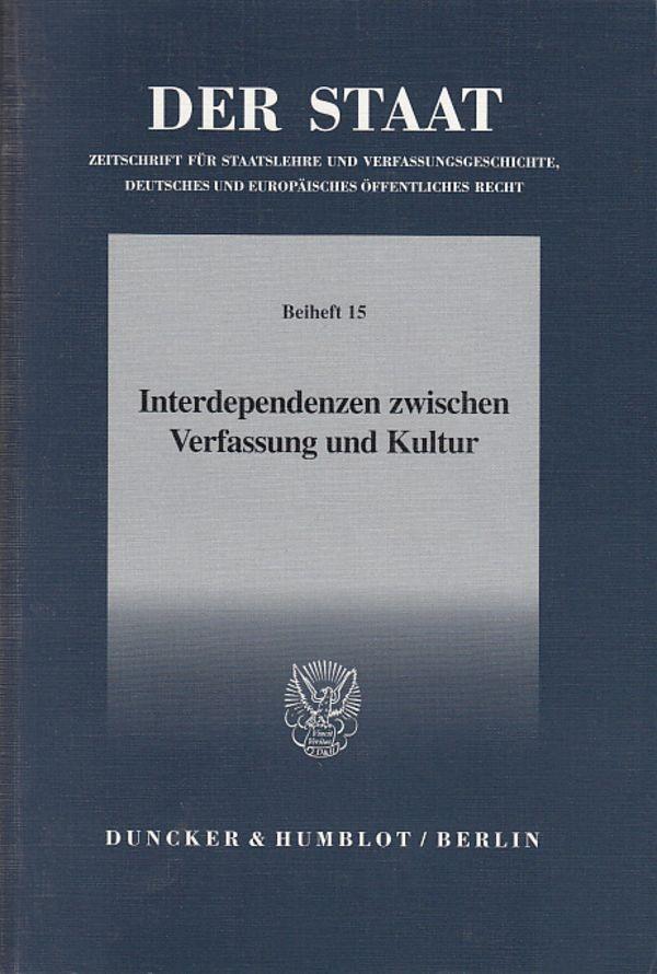 Abbildung von Becker   Interdependenzen zwischen Verfassung und Kultur.   2003