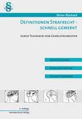 Definitionen Strafrecht - Schnell gemerkt | Simon | 4. Auflage, 2014 | Buch (Cover)