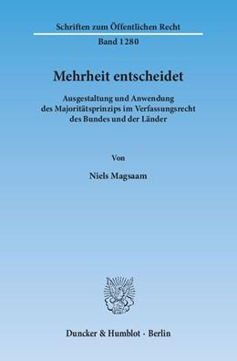 Abbildung von Magsaam | Mehrheit entscheidet | 1. Auflage | 2014 | 1280 | beck-shop.de