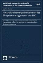 Abschaltreihenfolge im Rahmen des Einspeisemanagements des EEG | Lindner, 2014 | Buch (Cover)