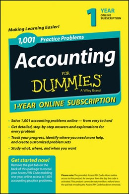 Abbildung von 1,001 Accounting Practice Problems For Dummies Access Code Card (1-Year Subscription) | 2030