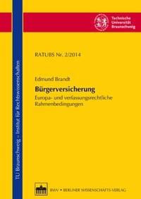 Bürgerversicherung | Brandt, 2014 | Buch (Cover)