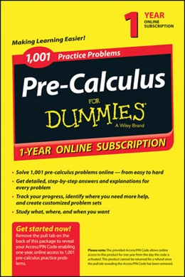 Abbildung von 1,001 Pre-Calculus Practice Problems For Dummies access Code Card (1-Year Subscription) | 2030