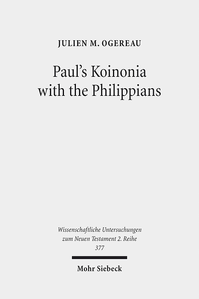 Paul's Koinonia with the Philippians | Ogereau, 2014 | Buch (Cover)