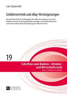 Abbildung von Querndt | Selektivvertrieb und eBay-Versteigerungen | 1. Auflage | 2014 | 19 | beck-shop.de
