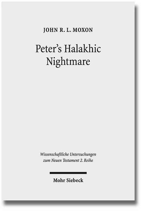 Peter's Halakhic Nightmare | Moxon, 2017 | Buch (Cover)