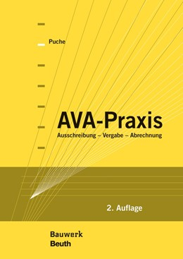 Abbildung von Puche, Manfred | AVA-Praxis | 2. Auflage | 2015 | beck-shop.de