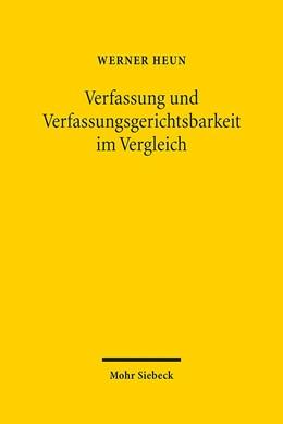 Abbildung von Heun   Verfassung und Verfassungsgerichtsbarkeit im Vergleich   1. Auflage   2014   beck-shop.de
