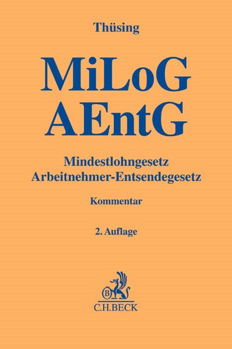 MiLoG und AEntG | Thüsing | Buch (Cover)