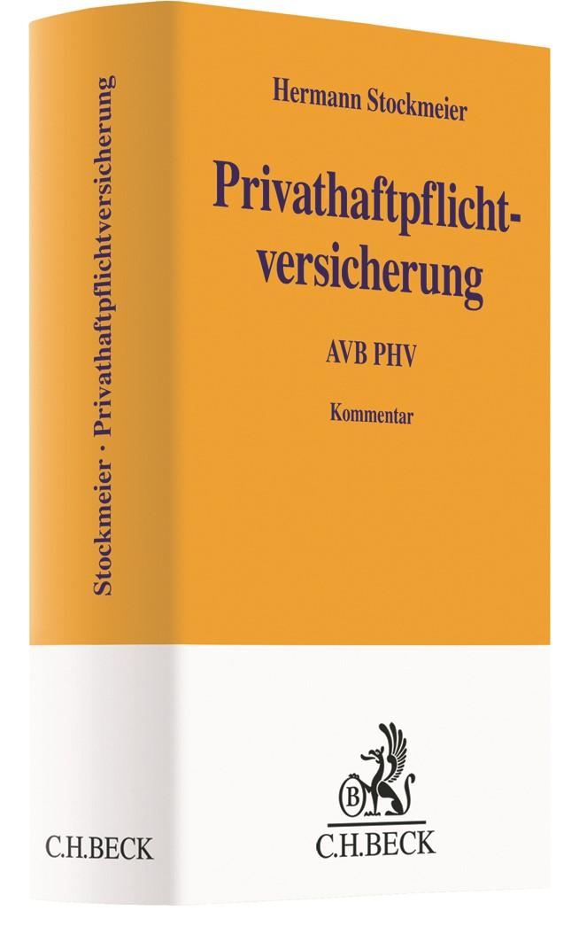 Privathaftpflichtversicherung: AVB PHV | Stockmeier, 2019 | Buch (Cover)