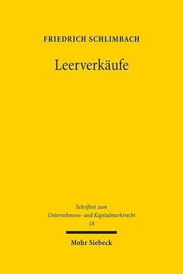 Abbildung von Schlimbach | Leerverkäufe | 2015 | Die Regulierung des gedeckten ... | 18