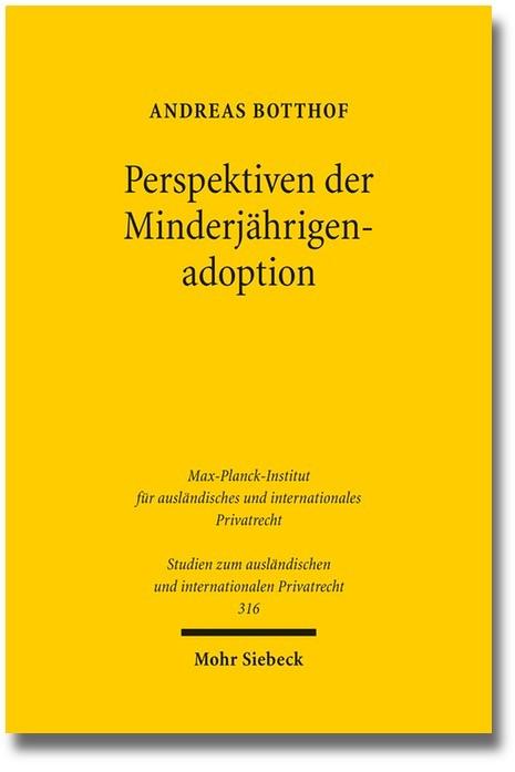 Perspektiven der Minderjährigenadoption | Botthof, 2014 | Buch (Cover)