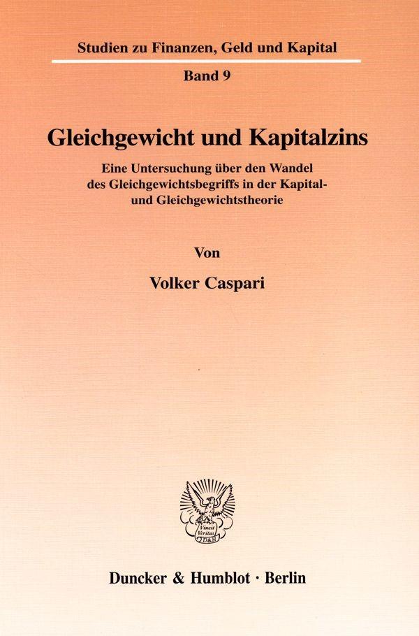 Abbildung von Caspari | Gleichgewicht und Kapitalzins. | 2000