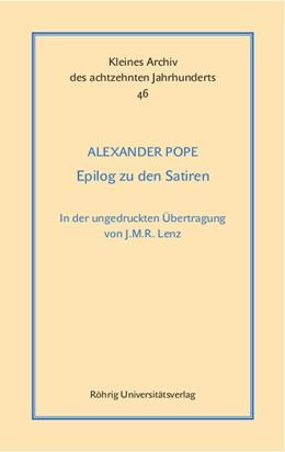 Abbildung von Pope / Guthrie   Epilog zu den Satiren. Dialog I   2015   In der ungedruckten Übertragun...   46