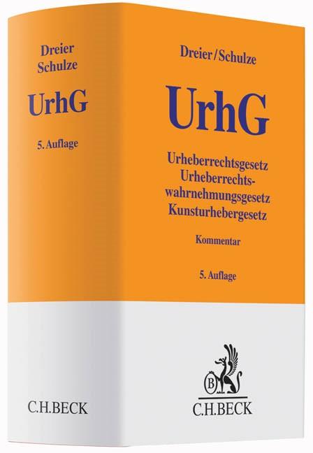Urheberrechtsgesetz: UrhG | Dreier / Schulze | 5. Auflage, 2015 | Buch (Cover)
