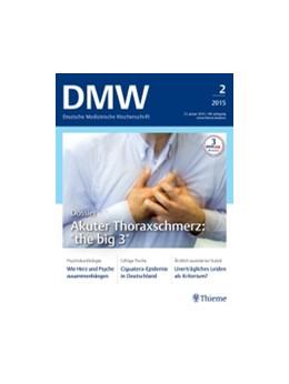 Abbildung von DMW - Deutsche Medizinische Wochenschrift | 145. Auflage | 2020