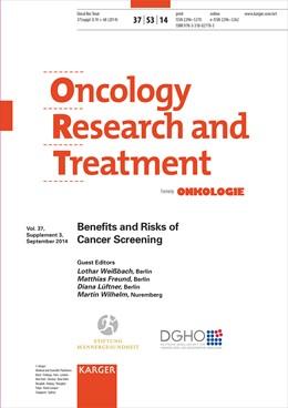 Abbildung von Weissbach / Freund / Lüftner / Wilhelm | Benefits and Risks of Cancer Screening | 2014 | Supplement Issue: Oncology Res...