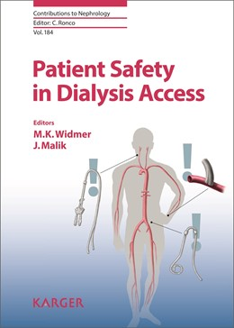 Abbildung von Widmer / Malik | Patient Safety in Dialysis Access | 2015 | 184