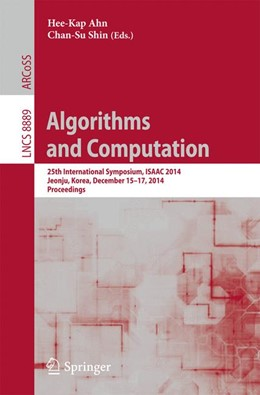 Abbildung von Ahn / Shin | Algorithms and Computation | 1. Auflage | 2014 | beck-shop.de