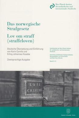 Abbildung von Das norwegische Strafgesetz / Lov om straff (straffeloven) | 2014 | vom 20. Mai 2005 nach dem Stan... | 123