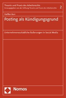 Abbildung von Burr | Posting als Kündigungsgrund | 1. Auflage | 2014 | 2 | beck-shop.de