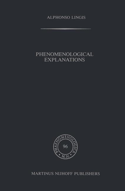 Abbildung von Lingis | Phenomenological Explanations | 1986