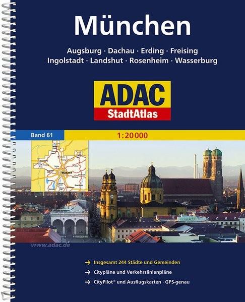 ADAC StadtAtlas Großraum München / Augsburg / Ingolstadt 1 : 20 000 | 9. Auflage, Laufzeit bis 2018, 2014 | Buch (Cover)