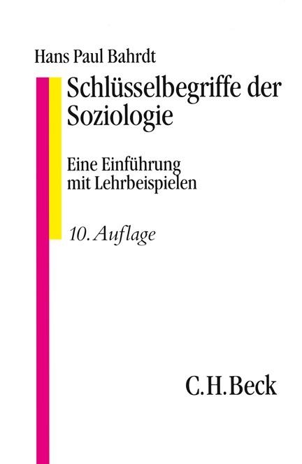 Cover: , Schlüsselbegriffe der Soziologie