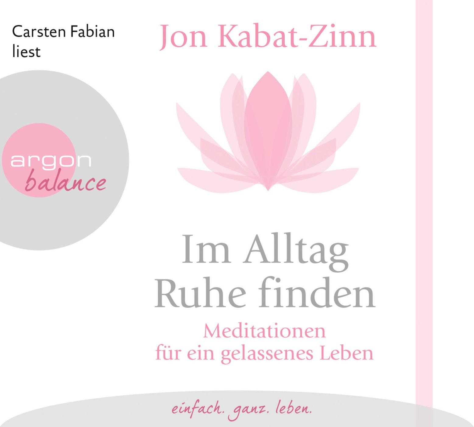 Im Alltag Ruhe finden   Kabat-Zinn, 2015 (Cover)