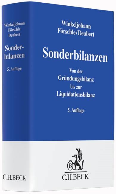 Sonderbilanzen | Winkeljohann / Förschle  / Deubert | 5., vollständig überarbeitete und erweiterte Auflage, 2015 | Buch (Cover)