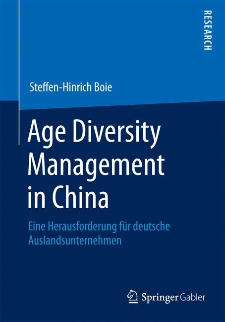 Age Diversity Management in China | Boie | 2014, 2014 | Buch (Cover)