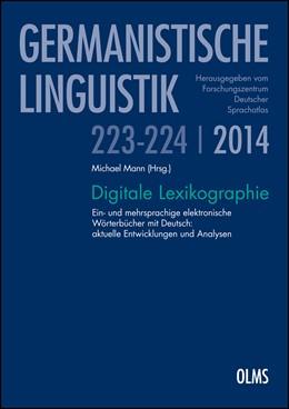 Abbildung von Mann | Digitale Lexikographie | 2014 | 2014 | Ein- und mehrsprachige elektro... | 223-224/2014