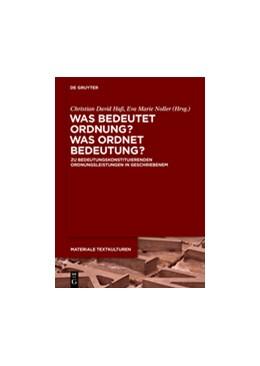 Abbildung von Haß / Noller | Was bedeutet Ordnung - was ordnet Bedeutung? | 1. Auflage | 2015 | beck-shop.de