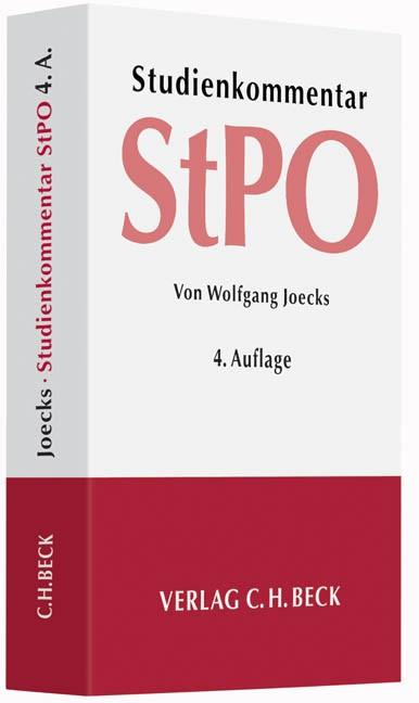 Strafprozessordnung: StPO | Joecks | Buch (Cover)