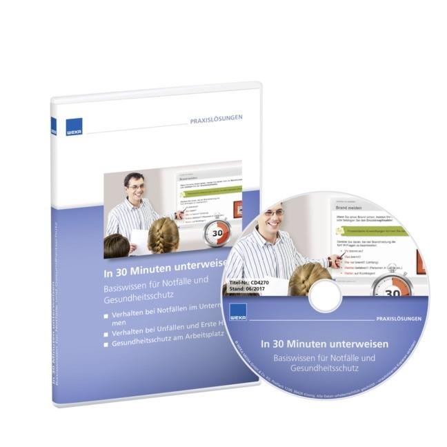 In 30 Minuten unterweisen Basiswissen für Notfälle und Gesundheitsschutz, 2017 (Cover)