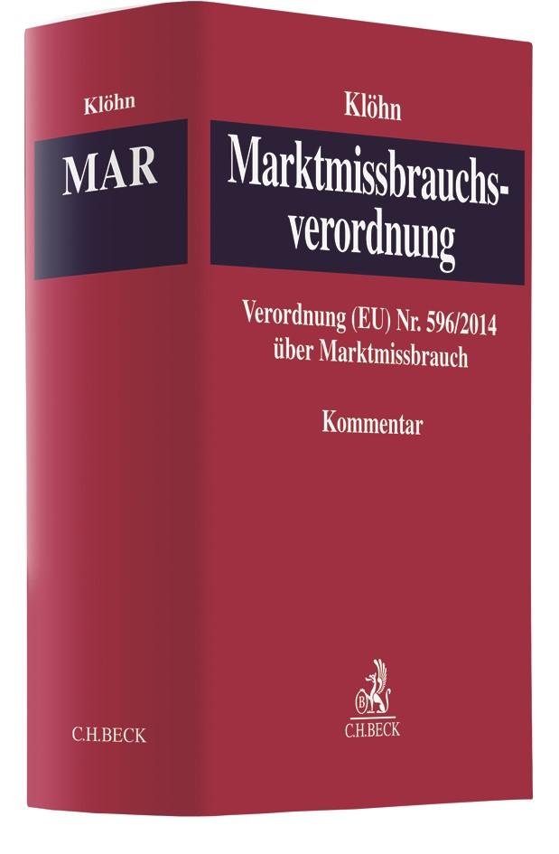 Marktmissbrauchsverordnung: MAR | Klöhn, 2018 | Buch (Cover)