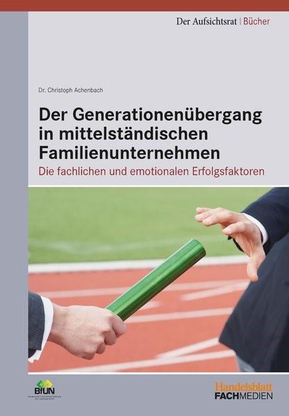 Der Generationenübergang in mittelständischen Familienunternehmen | Achenbach, 2014 | Buch (Cover)