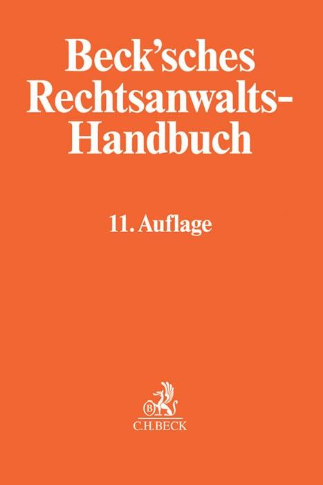 Beck'sches Rechtsanwalts-Handbuch | 11., völlig überarbeitete Auflage, 2016 | Buch (Cover)