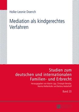 Abbildung von Doench | Mediation als kindgerechtes Verfahren | 1. Auflage | 2014 | 20 | beck-shop.de