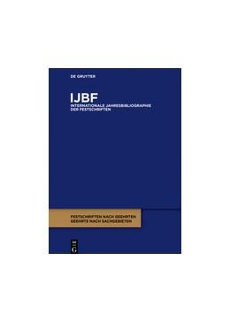Abbildung von IJBF/2016 | 1. Auflage | 2016 | beck-shop.de