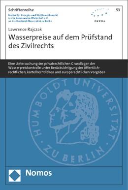 Abbildung von Rajczak | Wasserpreise auf dem Prüfstand des Zivilrechts | 1. Auflage | 2014 | beck-shop.de