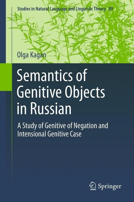 Semantics of Genitive Objects in Russian | Kagan, 2014 | Buch (Cover)