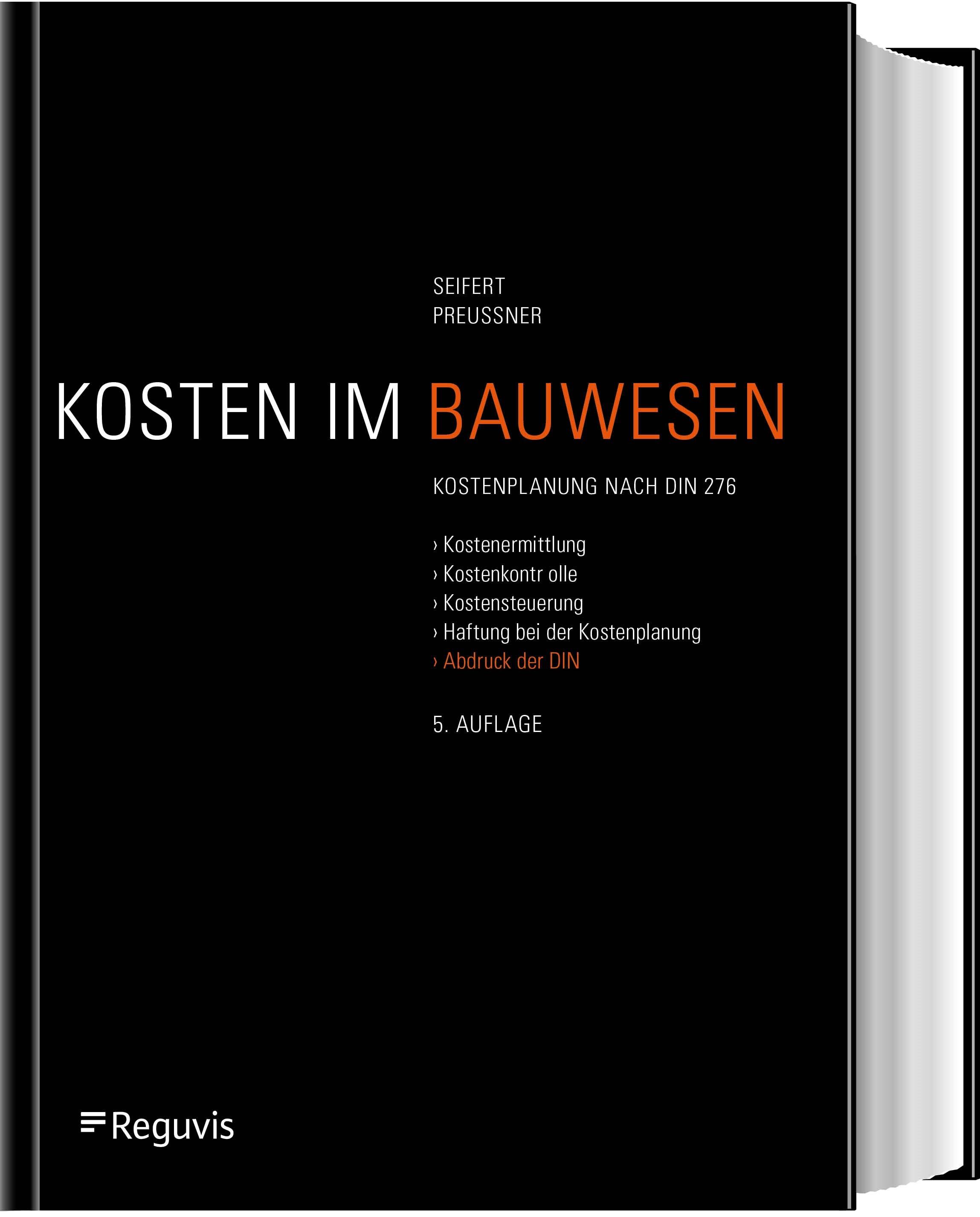 Baukostenplanung | Seifert / Preussner | 5., neu bearbeitete und erweiterte Auflage, 2018 | Buch (Cover)