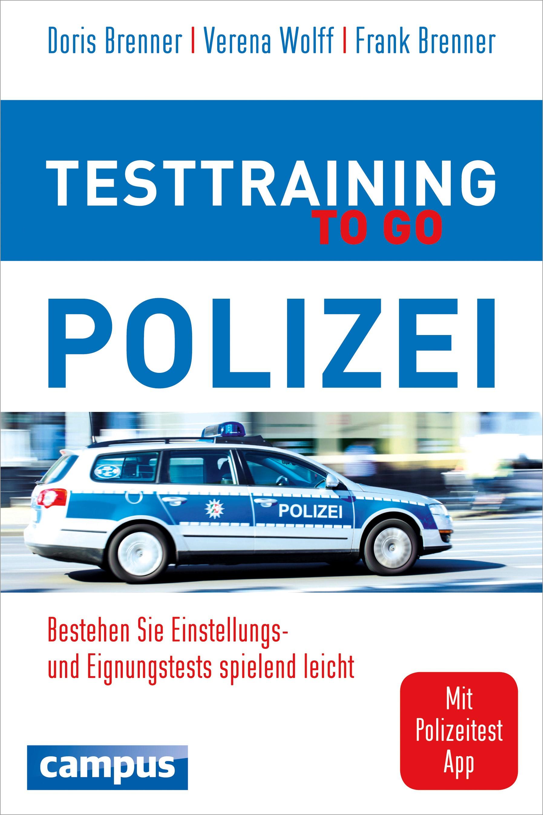 Testtraining to go Polizei | Brenner / Wolff, 2015 | Buch (Cover)