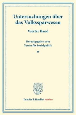 Abbildung von Untersuchungen über das Volkssparwesen.   1. Auflage   2014   beck-shop.de