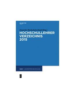 Abbildung von Deutscher Hochschulverband | Universitäten Deutschland | 23rd Edition | 2015